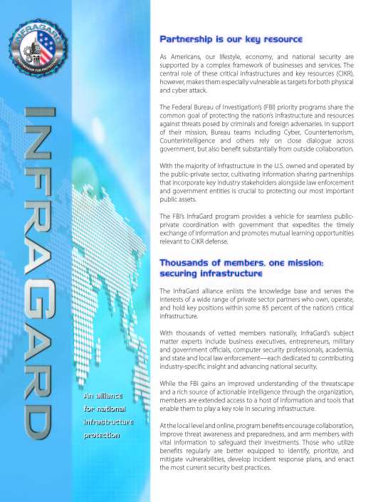North Carolina InfraGard | Join InfraGard